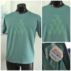 Other - Hand Printed Tshirt Tee Atari Qbert Abstract Cubes